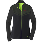 Ladies Milford Proving Ground Nike Therma-Fit Pull Over Black/Chartreuse