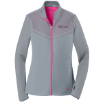 Ladies Milford Proving Ground Nike Therma-Fit Pull Over Cool Gray/Vivid Pink